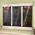Adagio Deep Creek Falls Wall Fountain Rainforest Green Marble Stainless Steel - - Thumbnail 10