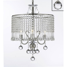 Contemporary 3 Light Crystal Chandelier Lighting With Crystal