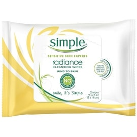 Simple Sensitive Skin Experts Radiance Cleansing Wipes (25 Each)