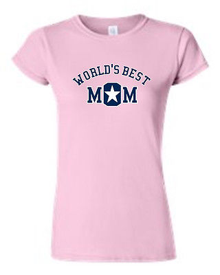 JUNIORS T-SHIRT World's Best Mom MOTHER TEE MOMMY SUPER MAMMA SPORTS TOP S-2XL