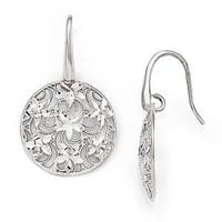 Italian Sterling Silver Polished & Textured Earrings
