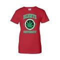 Women's Juniors T-Shirt Blunts Inst. Of Higher Learning Uni. Weed Pot Marijauna - Thumbnail 0