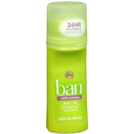 Ban Anti-Perspirant Deodorant Original Roll-On Satin Breeze 3.50 oz