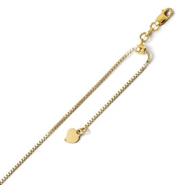 Italian 14k Gold Adjustable Box Chain