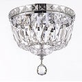 French Empire Empress Crystal Flush Basket Chandelier Lighting - Thumbnail 0