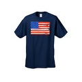 Men's T-Shirt USA Flag Painted American Stars Stripes Old Glory Vet Tee Patriotic - Thumbnail 2