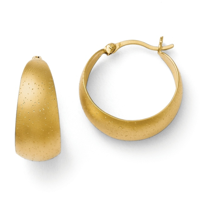 Sterling Silver Gold-plated Radiant Essence Hoop Earrings