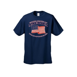 Men's USA Flag T Shirt Patriotic Home of the Free United States of America Tee (More options available)