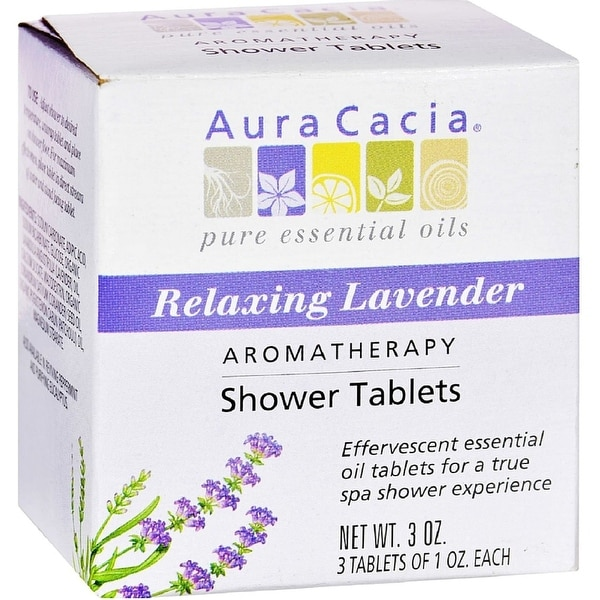Aura Cacia Aromatherapy Shower Tablets, Relaxing Lavender 3 ea