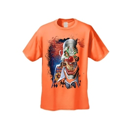 Men's T-Shirt Mad Joker Clown Crazy Creepy Red Nose Smoking Cigar Graphic Tee