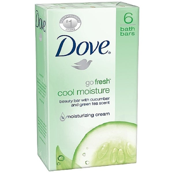Dove Go Fresh Beauty Bar, Cool Moisture, 4 oz bars, 6 ea