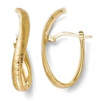 Italian 14k Gold Textured Earrings