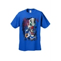 Men's T-Shirt Mad Joker Clown Crazy Creepy Red Nose Smoking Cigar Graphic Tee - Thumbnail 4