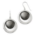 Sterling Silver Rhodium-plated & Ruthenium-plated Radiant Essence Earrings - Thumbnail 0