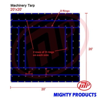 Xtarps - 20' x 20'  Truck Tarp - Machinery Tarp - Heavy Duty, Industrial Grade