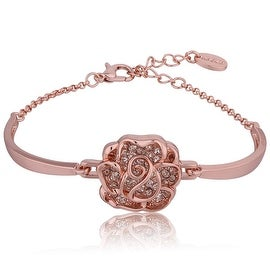 18K Rose Gold PlatedRose Petal Emblem Bracelet with Swarovski Elements