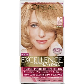 L'Oreal Paris Excellence Creme Haircolor Medium Golden Blonde [8G] (Warmer)