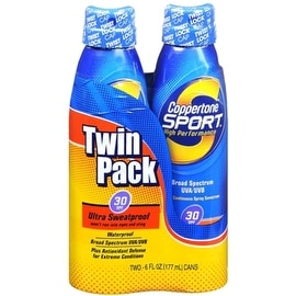 Coppertone Sport 12-ounce Continuous Spray SPF 30 Twin Pack