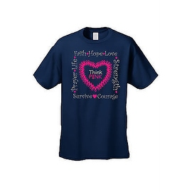 UNISEX T-SHIRT 'Think Pink' SUPPORT BREAST CANCER AWARENESS RIBBON S-5XL
