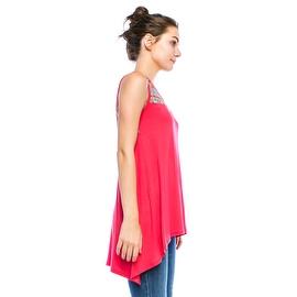 SimplyRavishing Women's Hi-Low Sleeveless Ethnic Print Tunic Top (Size: Small-3X)