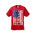 Men's T-Shirt USA Flag Keep Calm & Stay Strong Stars & Stripes America Patriotic - Thumbnail 4