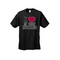UNISEX T-SHIRT I Love My Crazy Husband FUNNY COUPLES VALENTINE'S DAY TOP S-4X 5X - Thumbnail 7
