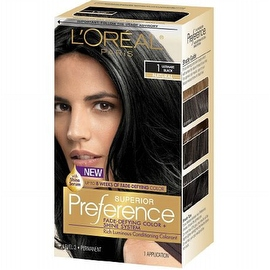 L'Oreal Superior Preference Fade Defying Color & Shine System, Permanent, 1 Ultimate Black 1 ea