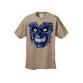 Men's T-Shirt Metallic Robotic Blue Skull Skeleton Wired Terminator Graphic Tee - Thumbnail 8