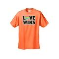Men's T-Shirt Love Wins Gay Lesbian LGBT Rainbow Flag Pride Homosexual Equality - Thumbnail 6
