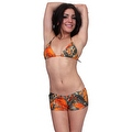 Women's Juniors Camo Hot Shorts Authentic True Timber ORANGE - Thumbnail 0