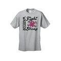 UNISEX T-SHIRT 'Warriors Fight Strong' BREAST CANCER AWARENESS PINK RIBBON - Thumbnail 4