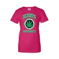 Women's Juniors T-Shirt Blunts Inst. Of Higher Learning Uni. Weed Pot Marijauna - Thumbnail 4