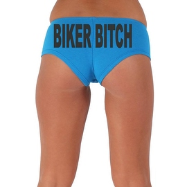 Women's Sexy Hot Booty Boy Shorts Biker Bitch Block Black Bold Style Type Lingerie