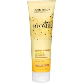 John Frieda Sheer Blonde Highlight Activating Enhancing 8.45-ounce Shampoo for Darker Blondes