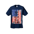 Men's T-Shirt USA Flag Keep Calm & Stay Strong Stars & Stripes America Patriotic - Thumbnail 8