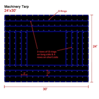 Xtarps - 24' x 30'  Truck Tarp - Machinery Tarp - Heavy Duty, Industrial Grade