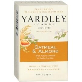 Yardley London 4.25-ounce Moisturizing Bar Oatmeal & Almond with Natural Oats