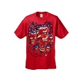 Men's T-Shirt USA Flag Skulls In Chains Stars & Stripes Pride American Graphic Tee - Thumbnail 11