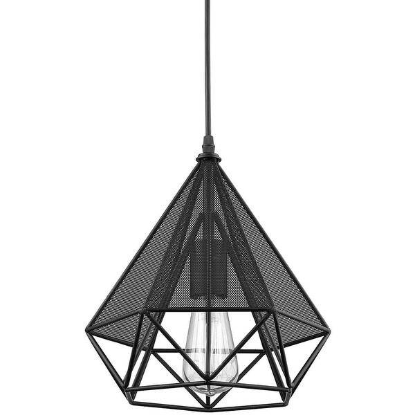 Wire cage vintage industrial polygon art deco pendant lamp light