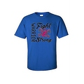 UNISEX T-SHIRT 'Warriors Fight Strong' BREAST CANCER AWARENESS PINK RIBBON - Thumbnail 2