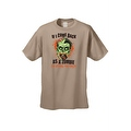 Men's T-Shirt If I Come Back As A Zombie I'm Eating You Frist Undead Graphic Tee - Thumbnail 7