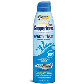 Coppertone 6-ounce Wet 'n Clear Continuous Sunscreen Spray SPF 50+