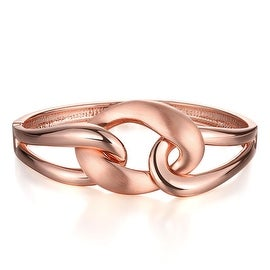 18K Rose Gold Abstract Interconnected Circles Bracelet