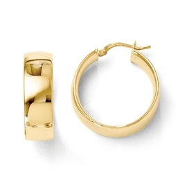 Italian 14k Gold Polished Hoop Earrings