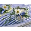 "LED Lighted Flickering Daisy Tea Light Candle Canvas Wall Art 11.75"" x 15.75"" - Thumbnail 1"