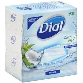 Dial Glycerin 4-ounce Soap Bars Coconut Water & Bamboo Leaf Extract (3 Bars Each)