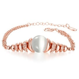 18K Rose Gold Plated Bracelet with Ivory Centerpiece with Swarovski Elements
