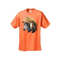 Men's T-Shirt Beautiful Golden Black & Brown Horses Cowboy Rodeo Riding Tee - Thumbnail 3