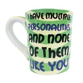 Tumbleweed Pottery Multiple Personalities Sarcastic Mug