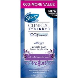 Secret Clinical Strength Invisible Solid Antiperspirant & Deodorant, Ooh-La-La Lavender 2.60 oz